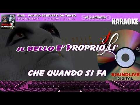 Download Mina - Volevo scriverti da tanto - Karaoke SL Mp4 baru