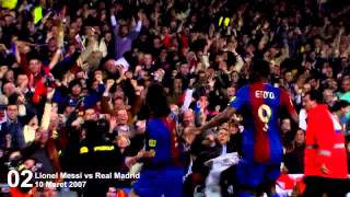 Lionel Messi - First Hattrick vs Real Madrid 720HD (10 Mar 2007)