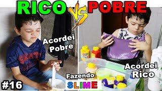 RICO VS POBRE FAZENDO AMOEBA / SLIME #16
