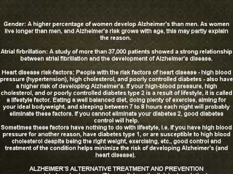 Alzheimer's disease causes and effects (NEW)