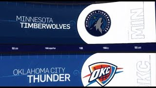 Oklahoma City Thunder vs Minnesota Timberwolves Game Recap | 1/8/19 | NBA