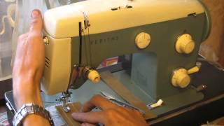 Sewing machine Test Швейная машина Veritas 8014/26 ГДР для кожи made in Germany