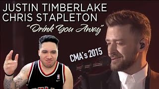 Download Lagu Justin Timberlake & Chris Stapleton - Drink You Away - CMA's 2015 REACTION!!! Gratis STAFABAND