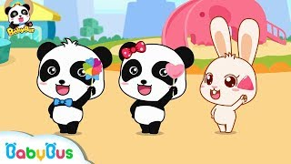 Baby Panda Shares Candies | Different Shaped Lollipops | Kids Love Sharing | BabyBus