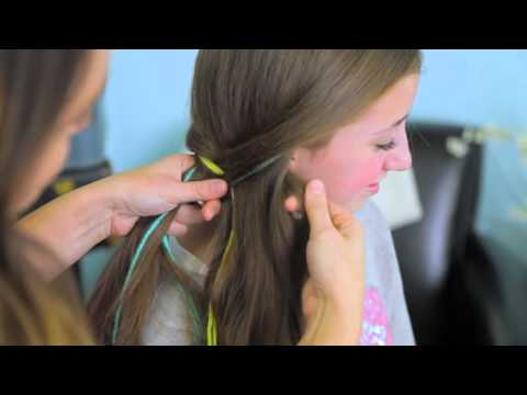 Yarn Extension Fishtail Braid   Color Highlights   Cute Girls Hairstyles