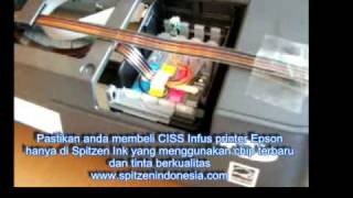 Cara pasang infus printer epson , ciss for epson t11 t20