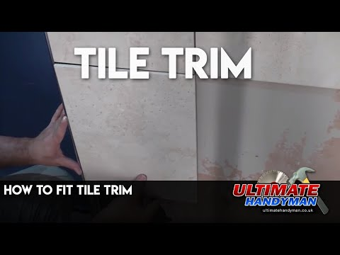 How to fit wall tile trim