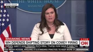 Huckabee Sanders reads off quotes from Democrats who blasted Comey in the past