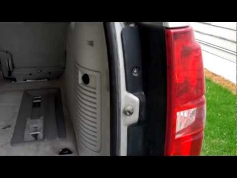 How to remove replace tail light bulb in Chevy Tahoe 2007 2008 2009
