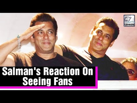 Emotional Salman Khan Waves At Fans After Getting Bail  LehrenTV