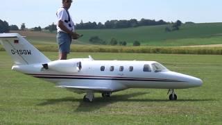 BUSINESS JET HUGE RC MODEL CITATION C-525 TWIN TURBINE AIRPLANE