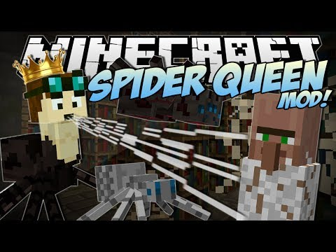 Minecraft | Spider Queen Mod! (rule Over A Spider Army!) | Mod Showcase video