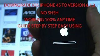 Downgrade iOS Iphone 4S to version 6.1.3 on Windows Step by Step