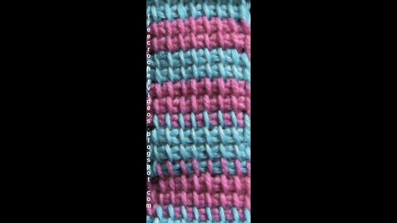 Change Color in Tunisian Crochet - YouTube