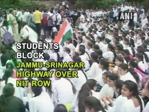 Students block Jammu-Srinagar Highway over NIT row