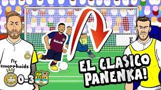 😲0-3! El Clasico Panenka!😲 Real Madrid vs Barca Copa Del Rey Semi Final (Parody Goals Highlights)