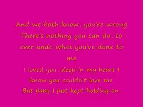 Shoulda let you go lyrics