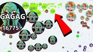 Agar.io Pro vs Noob Team Solo Mode Best Wins/Fails Best Moments Agario Mobile Gameplay