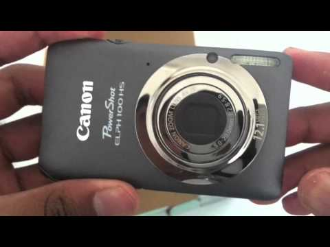 Canon Powershot ELPH 100 HS - Unboxing and Review