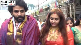Actress Namitha, Director Veerender Chowdary Visited Tirumala Temple || Shalimar Political News