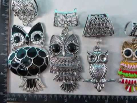 cheap craft scarf charms wholesale