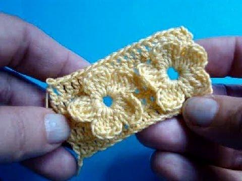 Узор вязания крючком 7 - Цветы