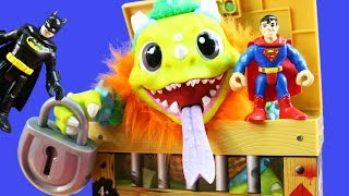 Imaginext Batman & Robin Get A Crate Creatures Sizzle Gift From Safari Deliver