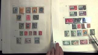 Jamaica 1860-1960 Original Stamp Collection on Leaves