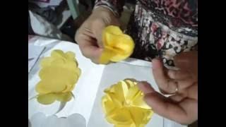 Como fazer a flor camelia