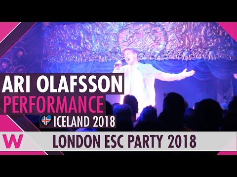 "Ari Ã""lafsson ""Our Choice"" (Iceland 2018) LIVE @ London Eurovision Party 2018"