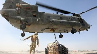 SUPER POWERFUL US Military Helicopter Aircraft lifting cargo