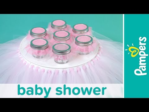Princess Baby Shower: How to Make a Tutu Cake Stand   Pampers