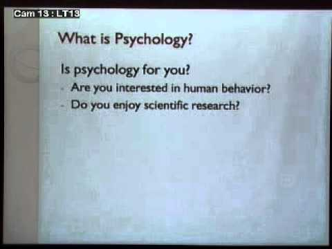 2013 FASS Open House  - Psychology: 'Reading' People's Minds