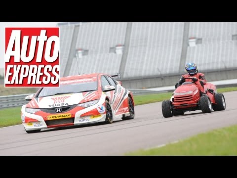 Honda Mean Mower vs BTCC Honda Civic