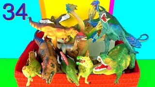 13 Incredible Dinosaurs Toy Collection Spinosaurus Tyrannosaurus Allosaurus Kids Toys