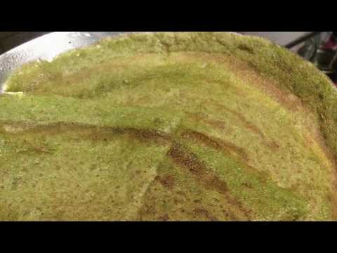 Healthy Spinach Dosa OR Palak Dosa In Telugu