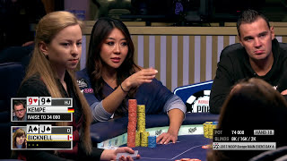 2017 WSOPE Main Event: Maria Ho folds a set of 10s | 888poker