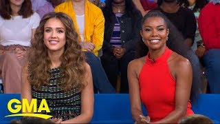Gabrielle Union and Jessica Alba talk motherhood and their new show l GMA