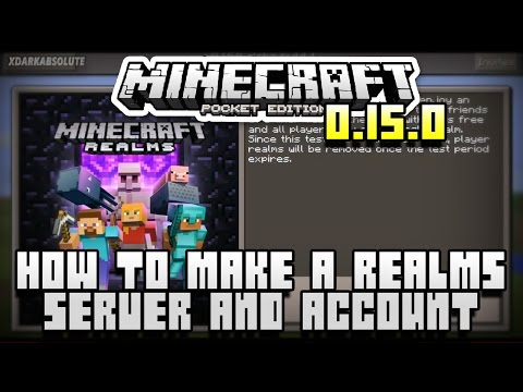 [0.15.0] How To Create a Minecraft PE Realms Server & Account (Pocket Edition)