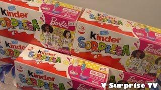15 Barbie 2019 Kinder Surprise eggs - Huevos oeufs Ovetti Kinder sorpresa