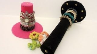 DIY Bracelet | Hair Band Stand Holder Using Cardboard - Recycling