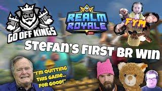 Go Off Kings Crossover: Stefan's First Battle Royale Win & Live George HW Bush Death Reaction