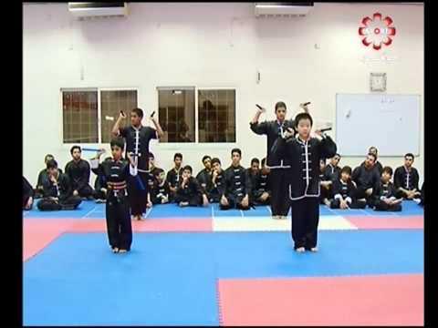 Part 5: Nunchakus (Nunchuks) - Kuwait Sports Channel Martial Arts Special w/ Sifu Khader Deng