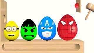 Kids Nursery Rhymes Song ( Giant Surprise Eggs Balls )