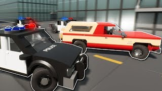 HUGE POLICE CHASE! - Brick Rigs Multiplayer Gameplay - Lego Cops and Robbers Chase