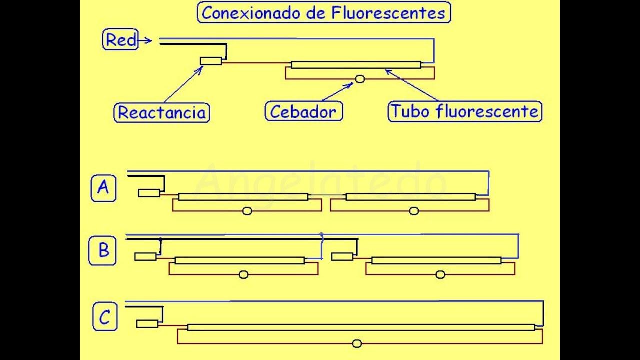 Fluorescentes esquemas youtube for Porta tubos fluorescentes
