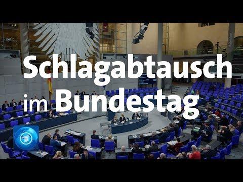 Bundestag Weidel und Merkel liefern sich Schlagabtausch bei Generaldebatte