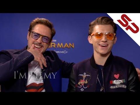 Том Холланд и Роберт Дауни Мл. заваливаются к друг другу на интервью
