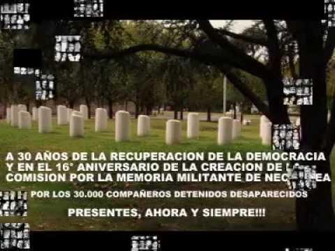 16° Aniversario de la Comisión por la Memoria Militante de Necochea