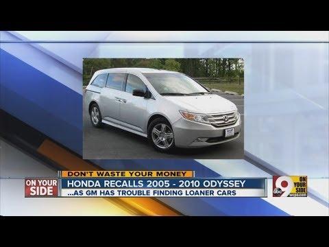 Honda recalls 2005-2010 Odyssey